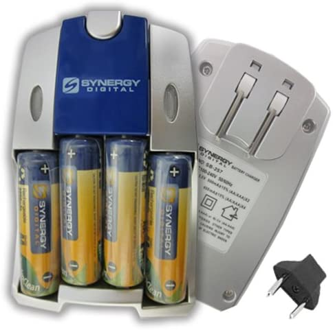 Olympus SP-610UZ Digital Camera Battery Charger Replacement of 4 AA NiMH 2800mAh Rechargeable Batteries, with Charger