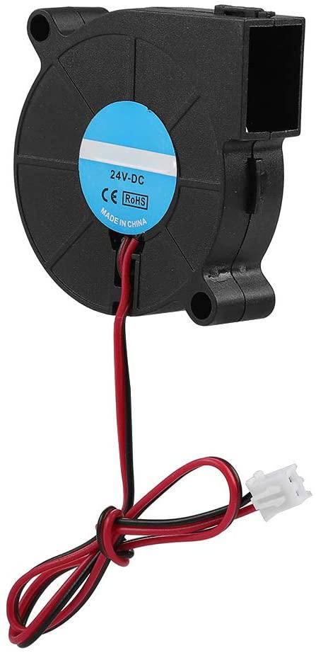 5015 Blower Fan, DC 505015mm Turbo Fan Blower Cooling Fan for 3D Printer (24V)