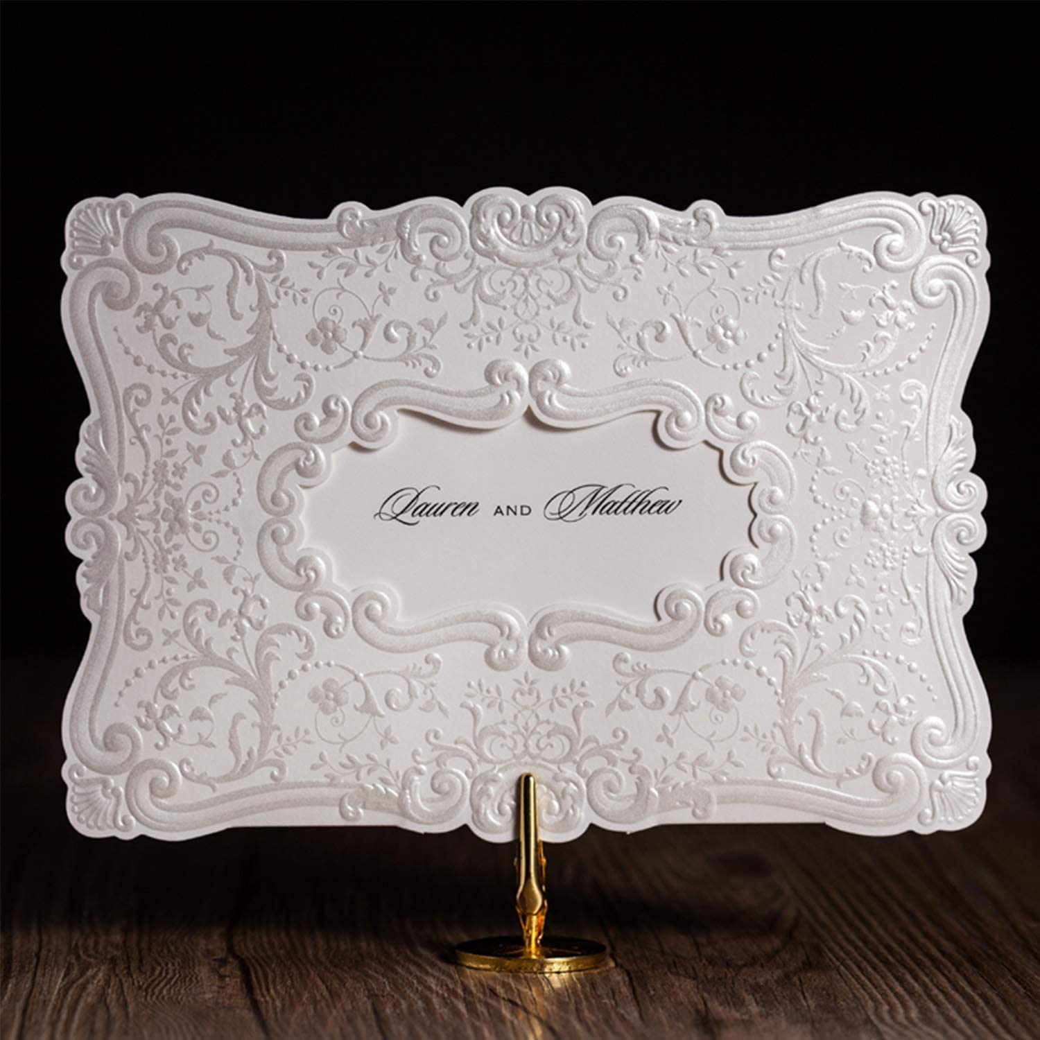 CJJC Personality Creative Customized Handmade Wedding Invitation Red Palace Style Invites Ideal for Wedding Party Banquet Use