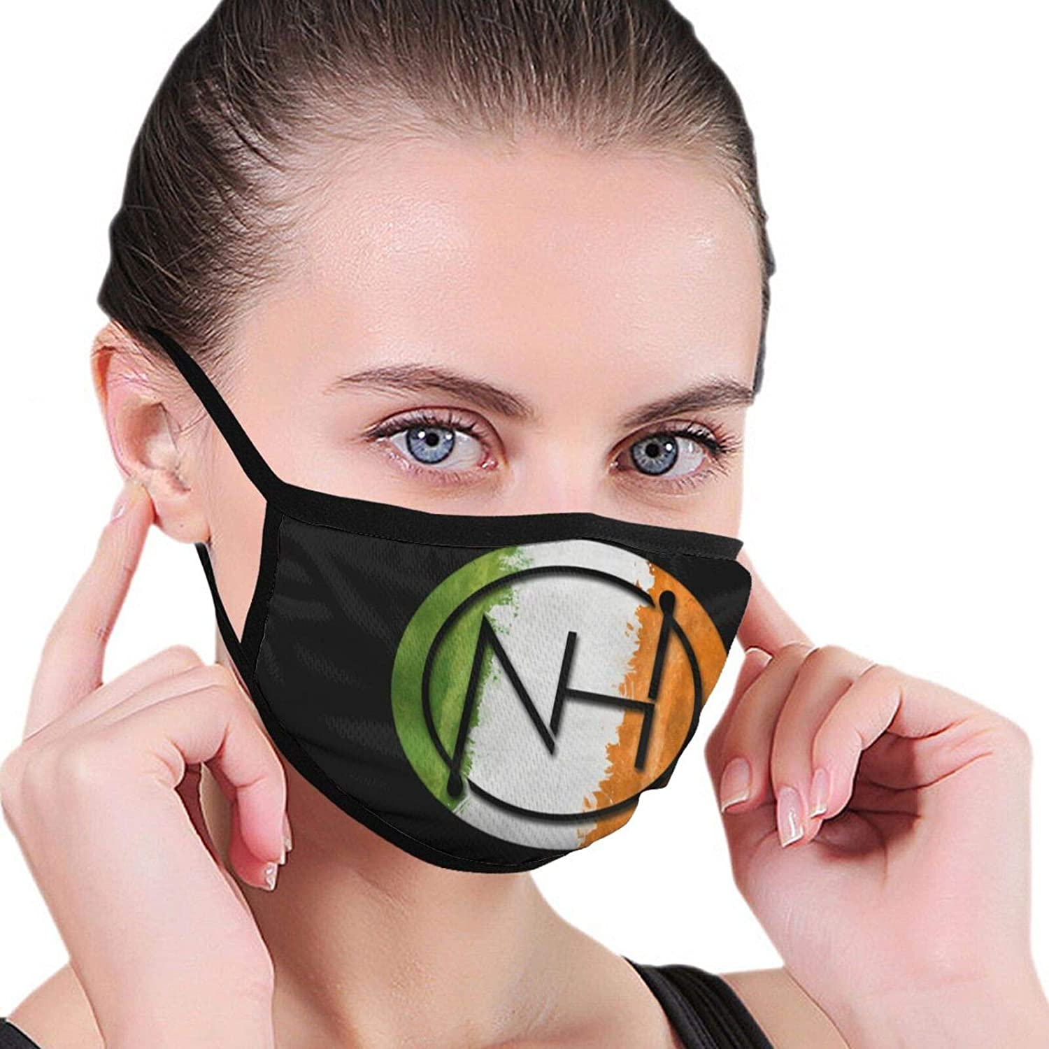 Niall Hooran Outdoor Breathable Washable Mask Unisex with Elastic Ear Loop Mask Black