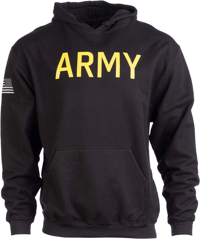 Army PT Style Hoodie   U.S. Military Training Infantry Workout Fleece Hoody Sweatshirt