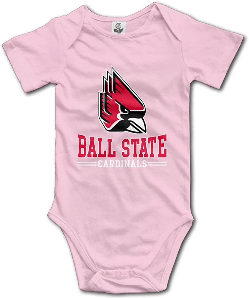 DW Toddler Ball State University Short Sleeve Bodysuits Black