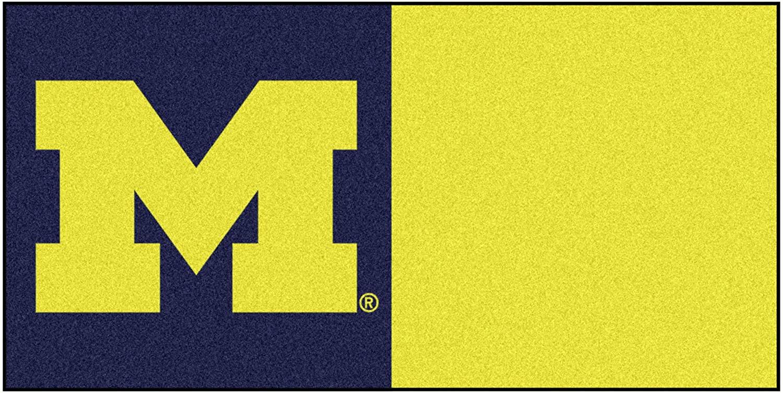 FANMATS - 8513 NCAA University of Michigan Wolverines Nylon Face Team Carpet Tiles