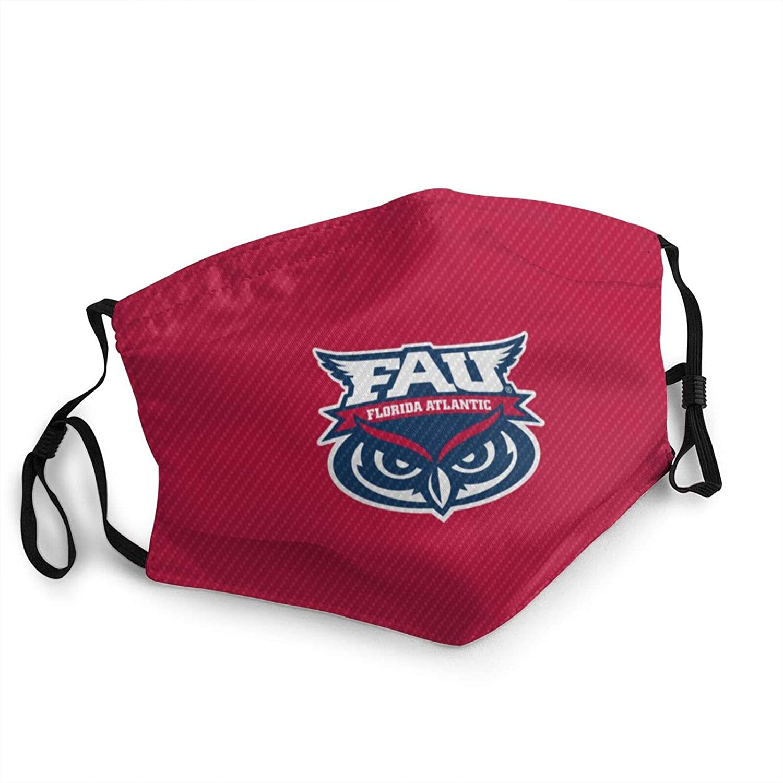 Florida Atlantic University Adult Wind Dust Masks Reusable & Washable Face Mask