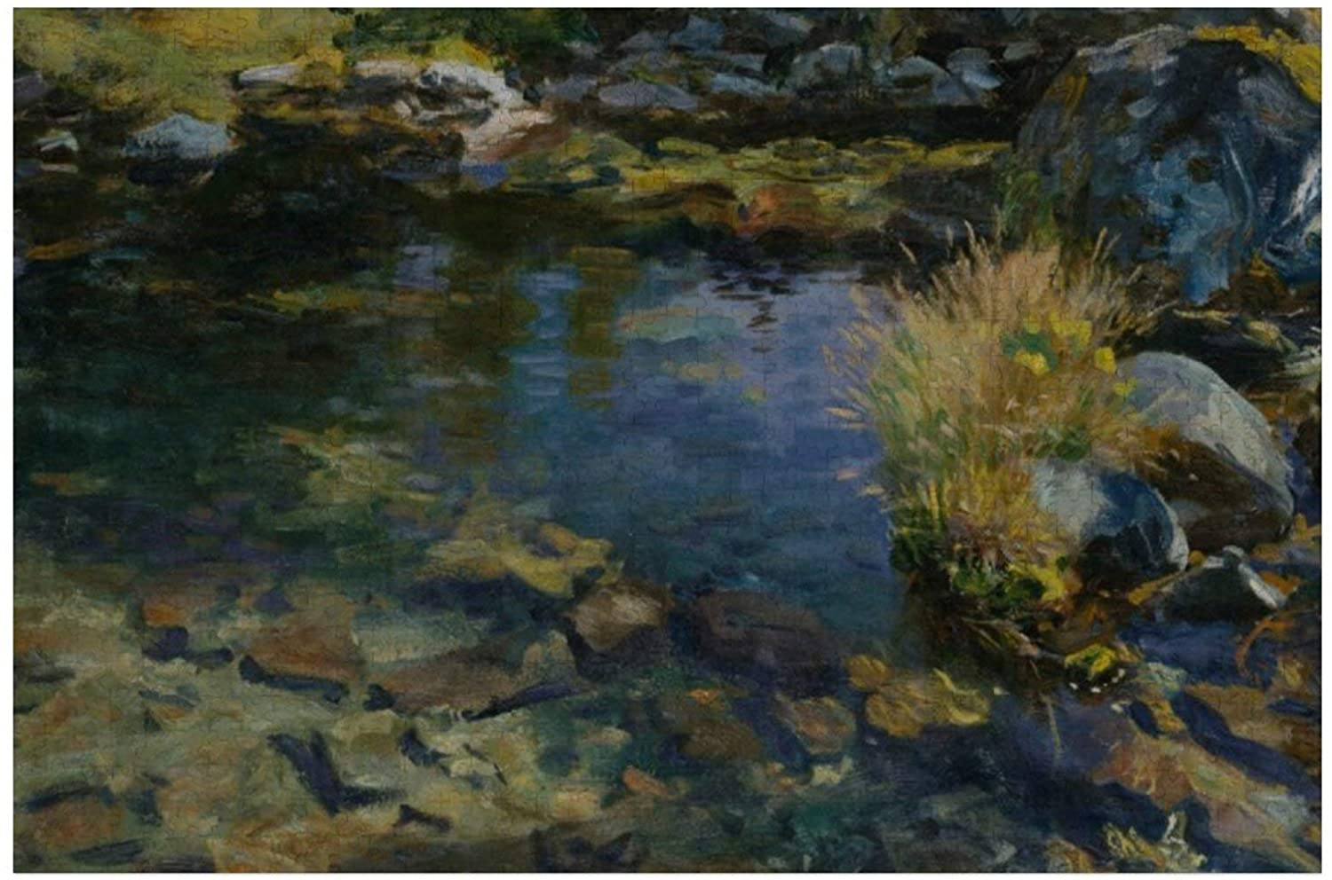 John Singer Sargent Alpine Pool Puzzles for Adults, 1000 Piece Kids Jigsaw Puzzles Game Toys Gift for Children Boys and Girls, 20