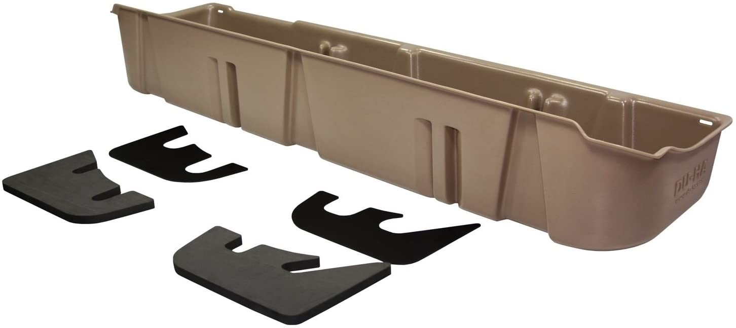 DU-HA Under Seat Storage Fits 09-14 Ford F-150 SuperCrew without Subwoofer, Tan, Part #20077