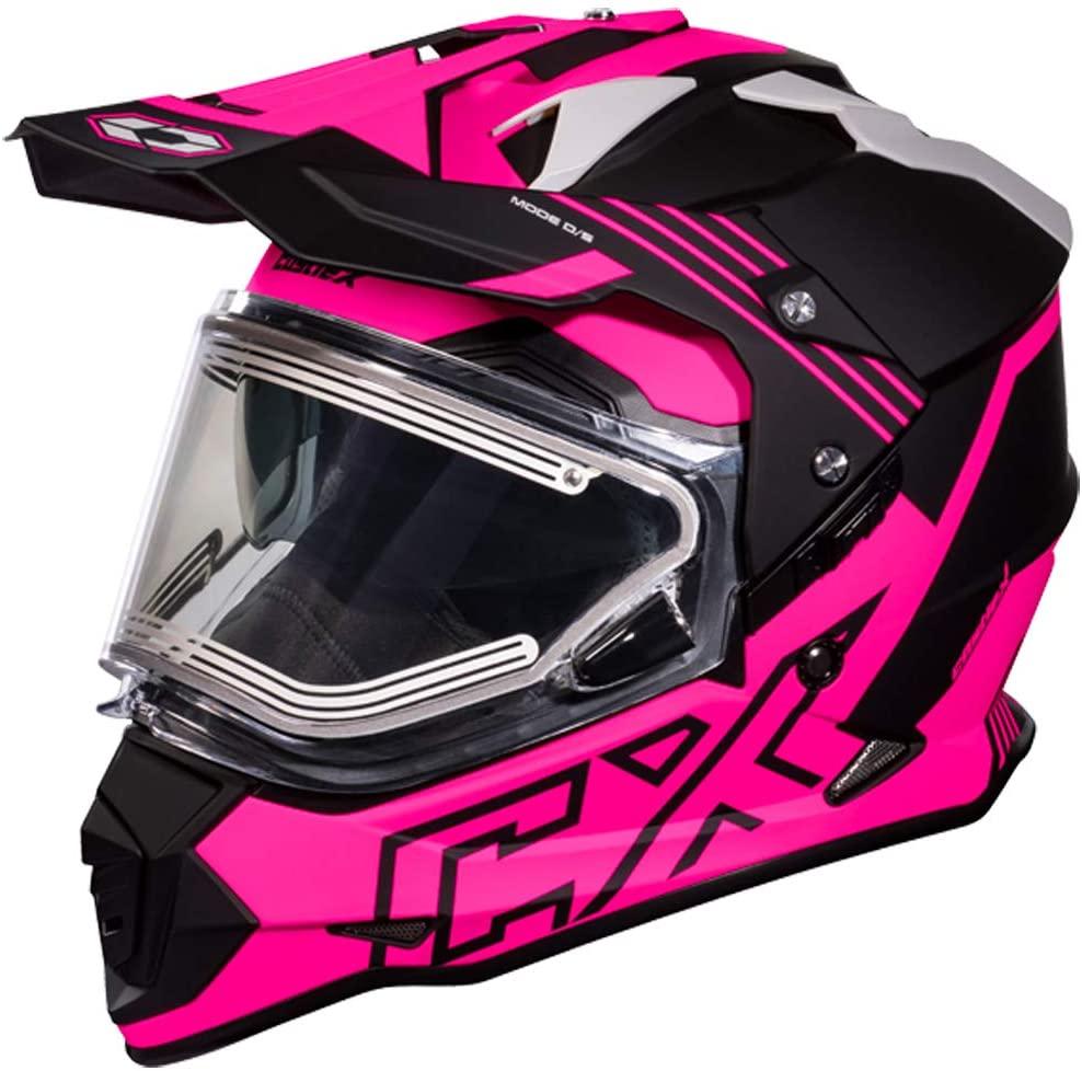 Castle X Mode D/S SV Agent Electric Helmet - Matte Pink Glo (LRG)