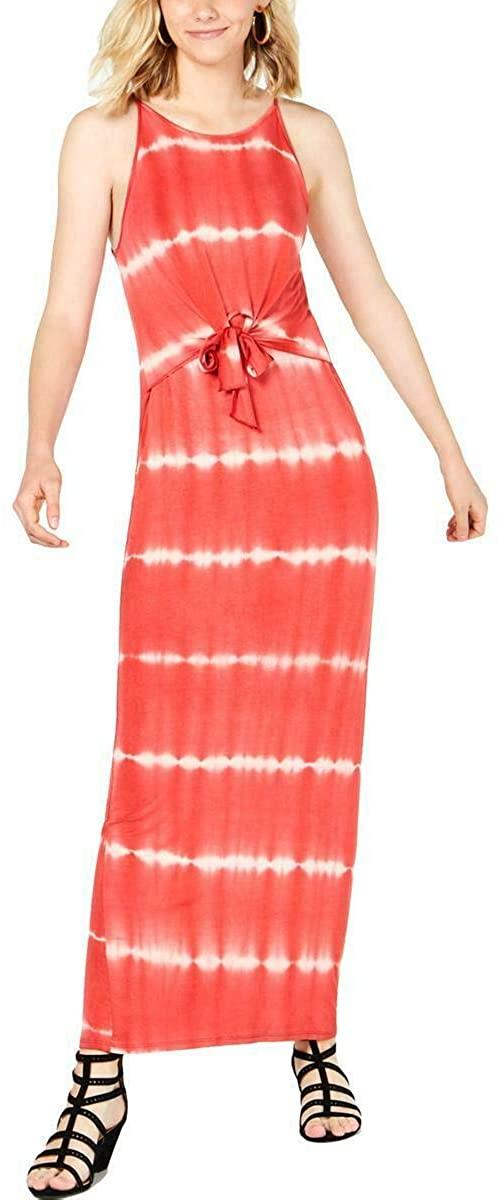 Ultra Flirt Womens Juniors Tie Dye Sleeveless Maxi Dress