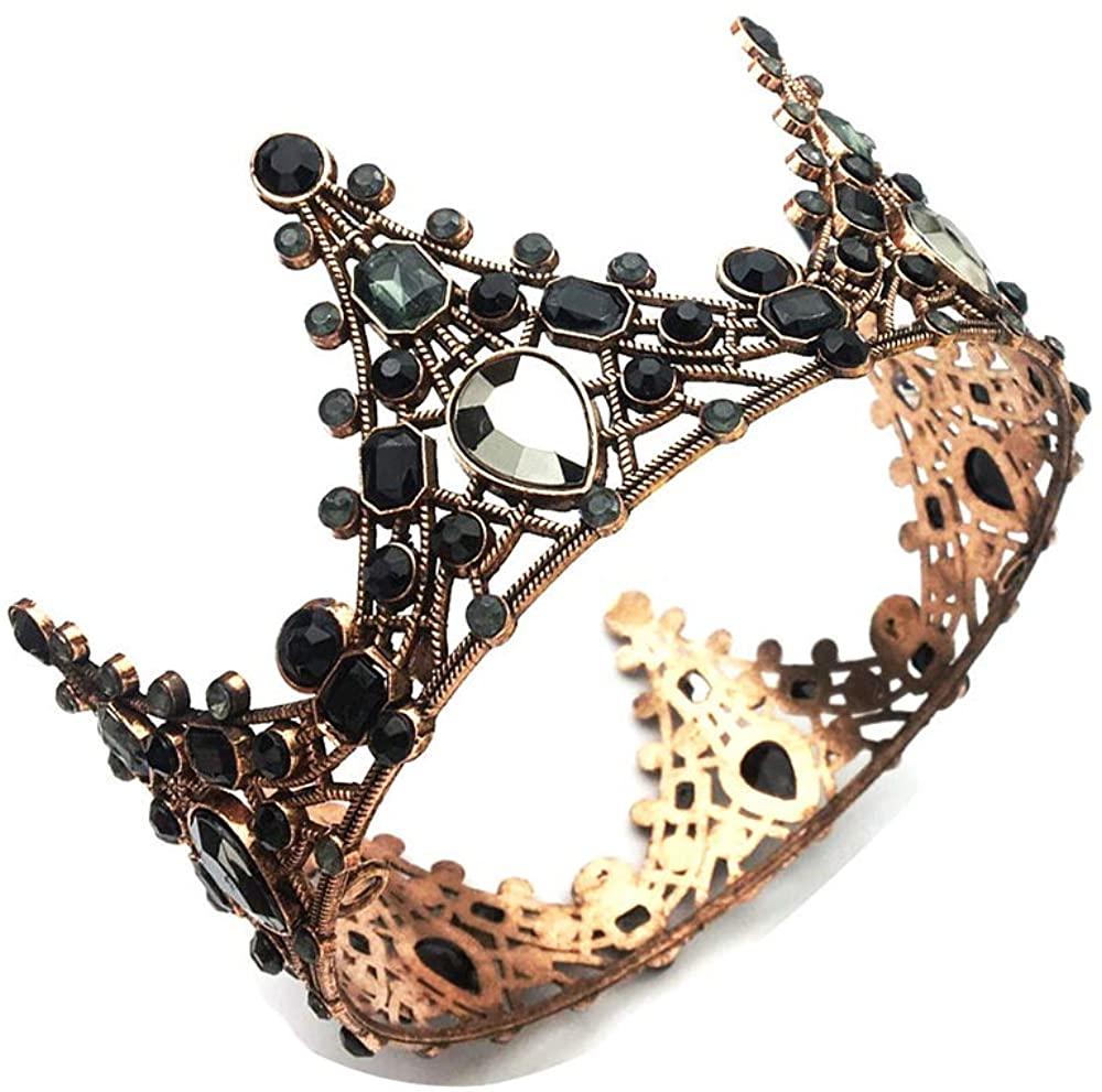 Earofcorn Bride Wedding Crystal Hair Band Jewelry Headdress Round Crown Tiara Beauty Pageant Princess