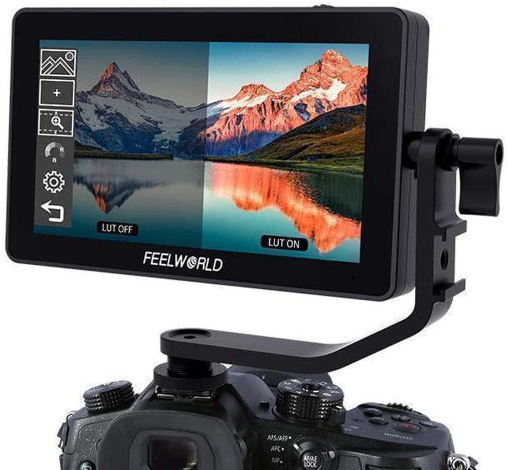 F6+ Plus 5.5 Inch 3D LUT Touch Screen DSLR Camera Field Monitor IPS FHD1920x1080 Support 4K HDMI Input Output Tilt Arm Power Output,Mirrorless Camera Gimbal