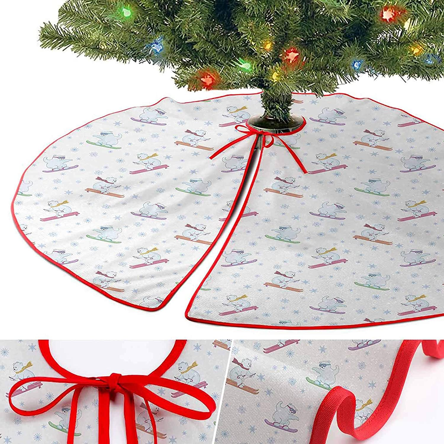 YOYI-Home Christmas Tree Skirt Pattern, Bear Tree Skirts 36