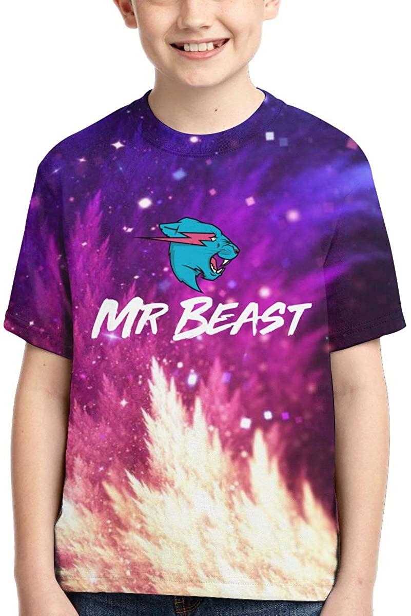 Allan-li Boys,Girls,Youth Mr Beast Logo T Shirt