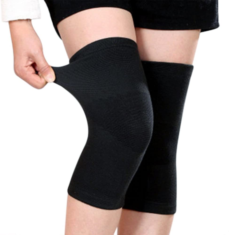 C.C-US 1 Pair Bamboo Fabric Knee Compression Sleeves Knee Support for Joint Pain & Arthritis Pain Relief, Elastic Knee Brace for Sports, Fits Men & Women
