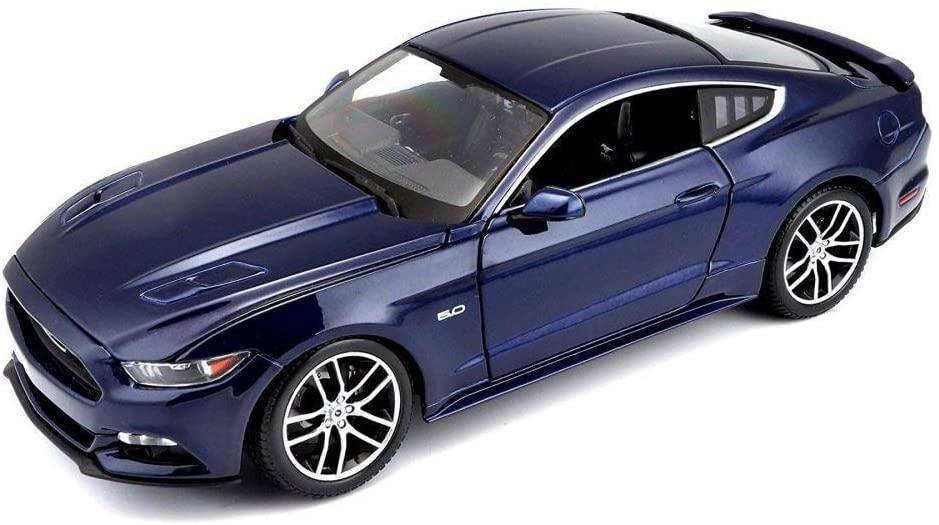 2015 Ford Mustang GT Hard Top, Dark Blue - Maisto 38133BU - 1/18 Scale Diecast Model Toy Car