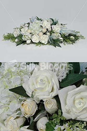 Stunning Vintage Ivory Rose and Hydrangea Wedding Top Table