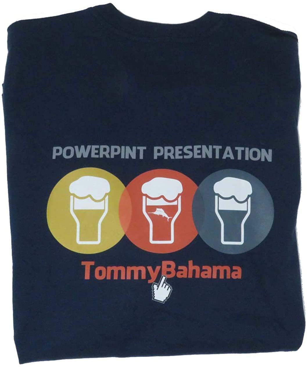 Tommy Bahama Powerpint Presentation X-Large Navy T Shirt