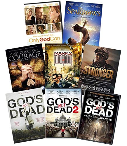 Ultimate Christmas 8-Movie Faith & Inspirational DVD Christian Collection: God's Not Dead / God's Not Dead 2 / God's Not Dead 3: A Lightness in Dark / Only God Can / The Sparrows / Last Ounce of Coura
