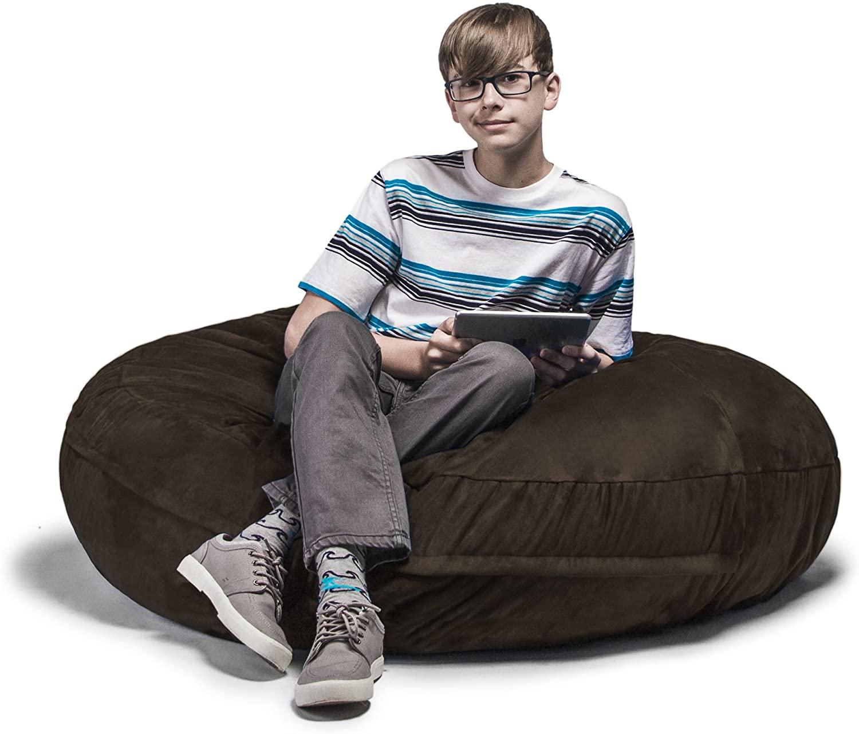 Jaxx 4 ft Cocoon Bean Bag Chair, Chocolate