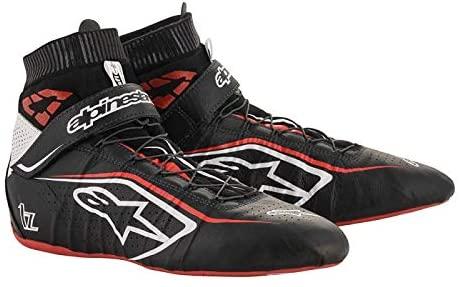Tech 1-Z V2 Driving Shoes SFI - 2020 Model - Size 11 - Black/White/Red (2715120-123-11)