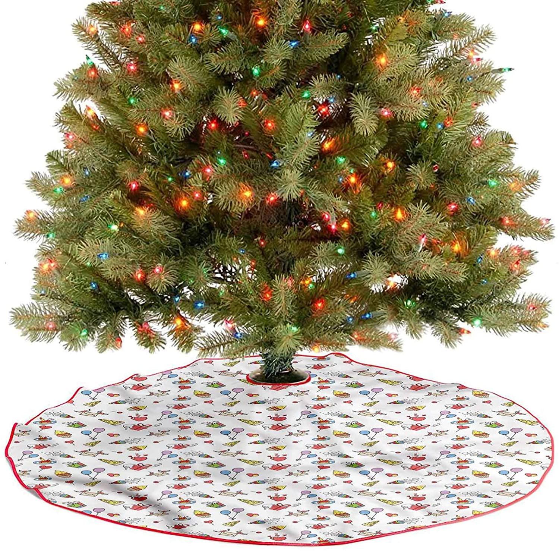 ThinkingPower Merry Christmas Tree Skirt Celebration Party Icon Xmas Party Holiday Decorations for Xmas Holiday Party Decoration Diameter - 30 Inch