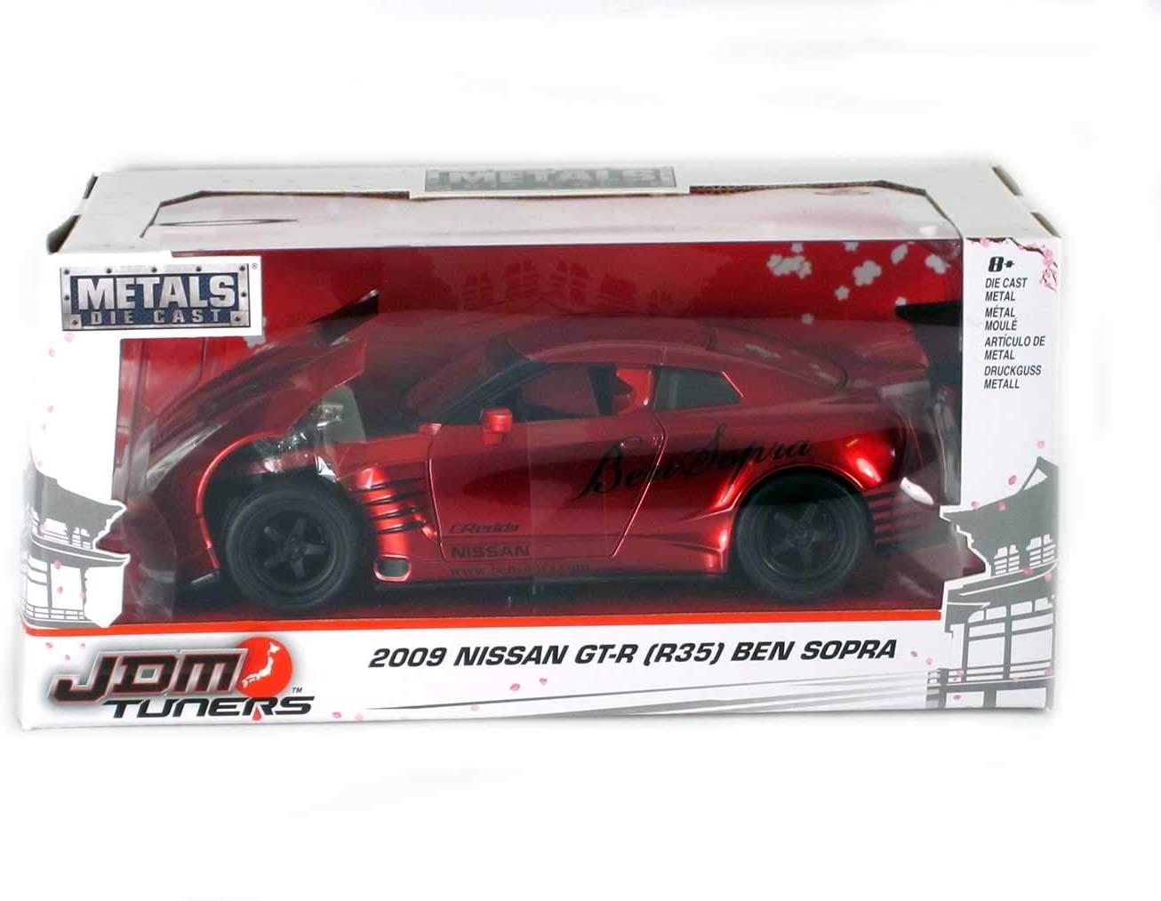 Nissan 2009 GT-R (R35) Ben Sopra Red JDM Tuners 1/24 by Jada 99215