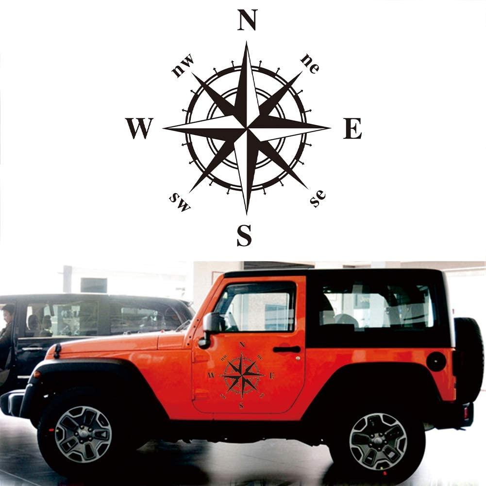 Elliot Jonah Car Compass Graphic Vinyl Sticker Hood/Side Door Exterior Decor Decals for Jeep Off-Road SUV