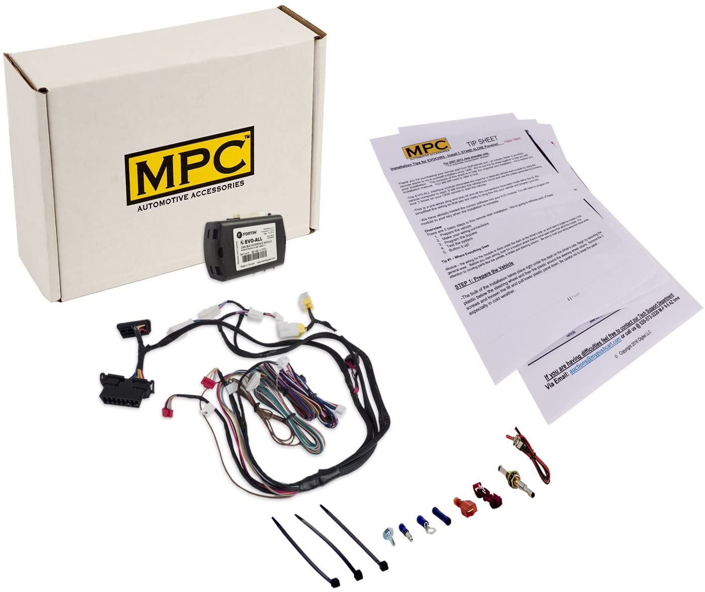 MPC Complete Factory Remote Activated Remote Start Kit for 2009-2016 Nissan GT-R - Push-to-Start - with T-Harness
