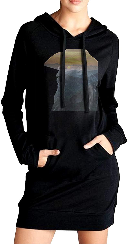 AP.Room Chris Stapleton Womens Long Sleeve Slim Fit Sweater Dress Side Pocket Winter Windbreak