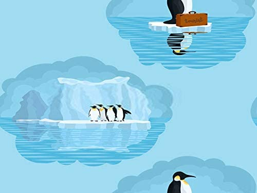 Jigsaw Puzzle 300 Pieces Puzzles for Kids Penguin Seamless Light Pattern with Penguins and Snow Glaciers Wooden Large DIY Adult Classic Games for a Friend Or Family 15x20 Inch