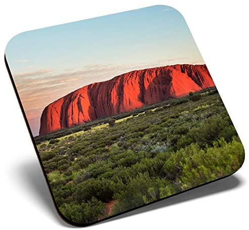 Great Single Coaster Square - Ayers Rock Australia Travel |Glossy Quality Coasters | Tabletop Protection for Any Table Type #2610