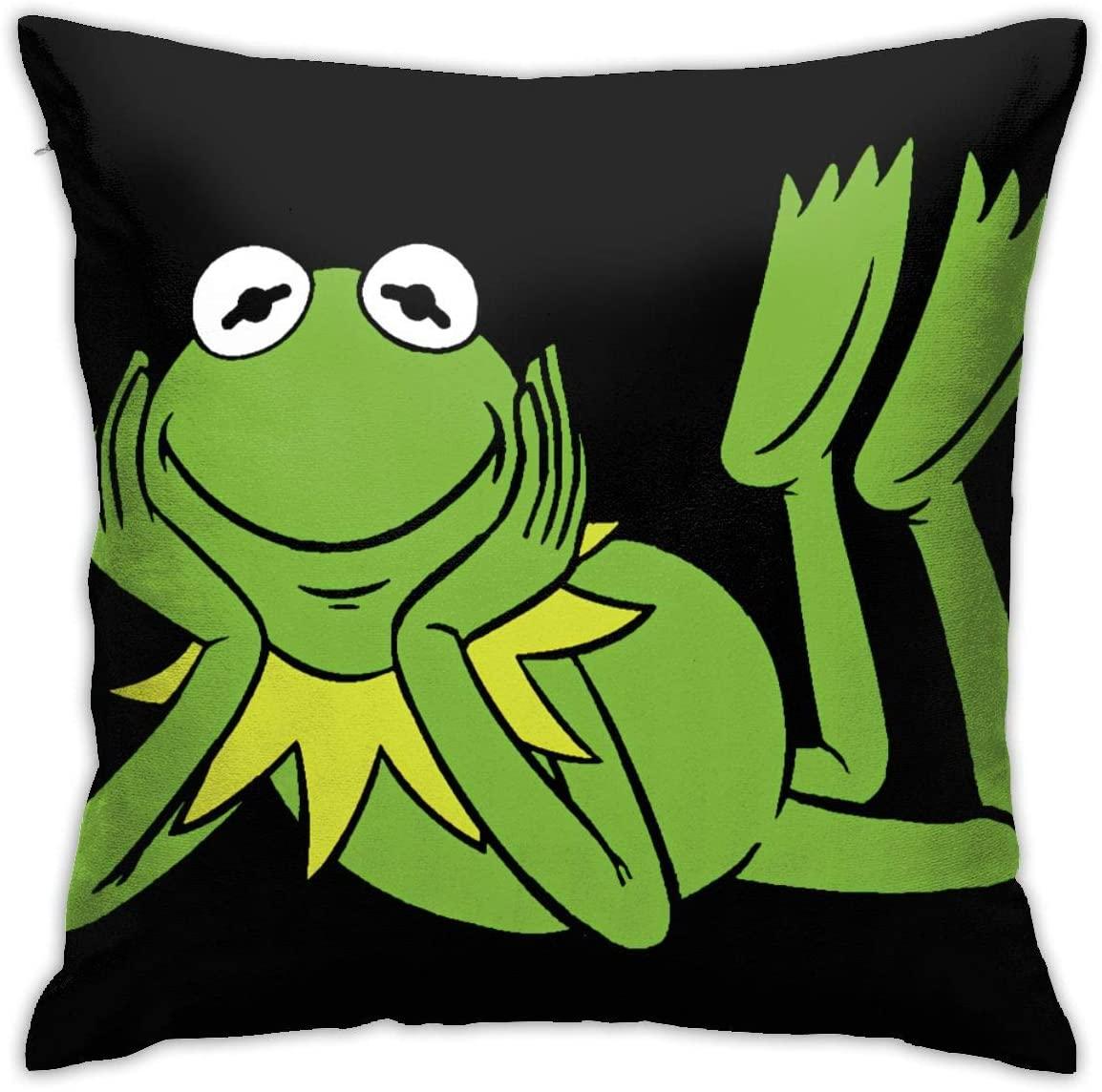 SkyeDana Kermit The Frog Pattern Hug Pillowcase Bedding Cover Pillowcase Sofa Home Decoration 18