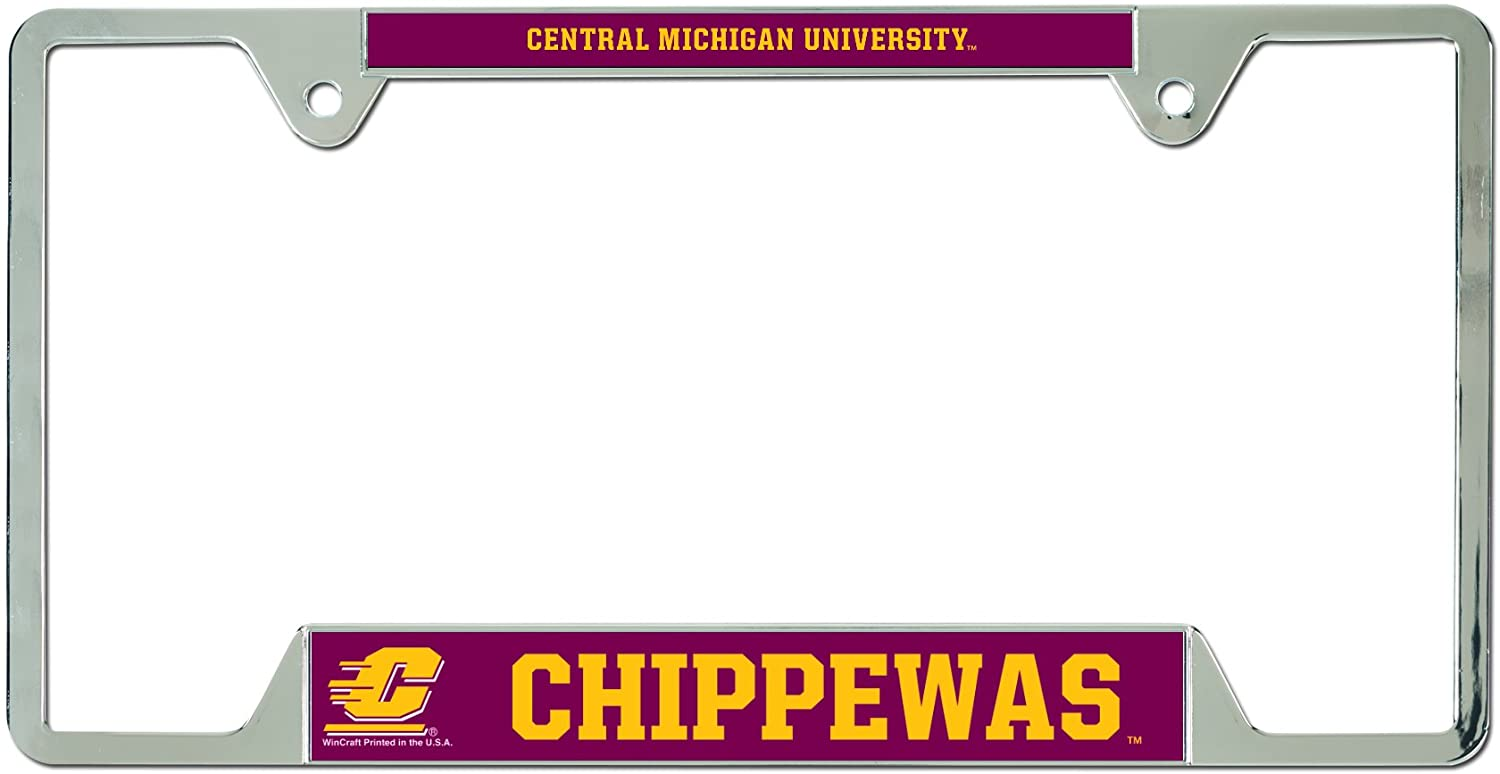 WinCraft NCAA Central Michigan University Metal License Plate Frame
