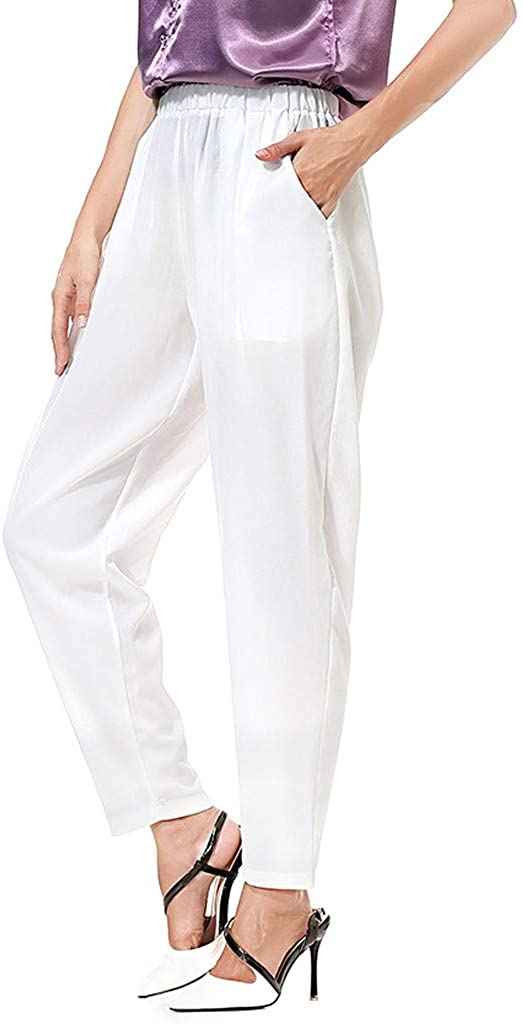 MILIMIEYIK Women's Yoga Pants Long Comfy Drawstring Trousers Loose Straight-Leg for Yoga Running Sporting with Pockets