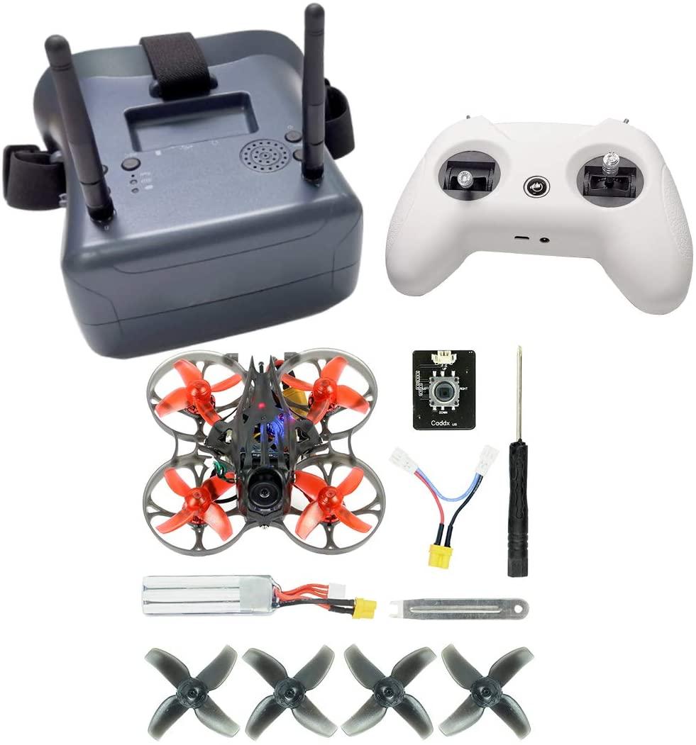 MINGCHUAN Happymodel Mobula7 HD 2-3S 75mm Crazybee F4 Pro FPV Racing Drone Quadcopter PNP BNF w/FPV Watch FPV Goggles LiteRadio TX (Frsky Non-EU Kit 3)