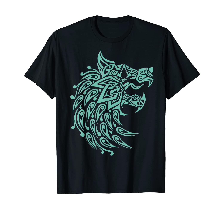 Assassin's Creed: Valhalla Geometric Wolf T-Shirt