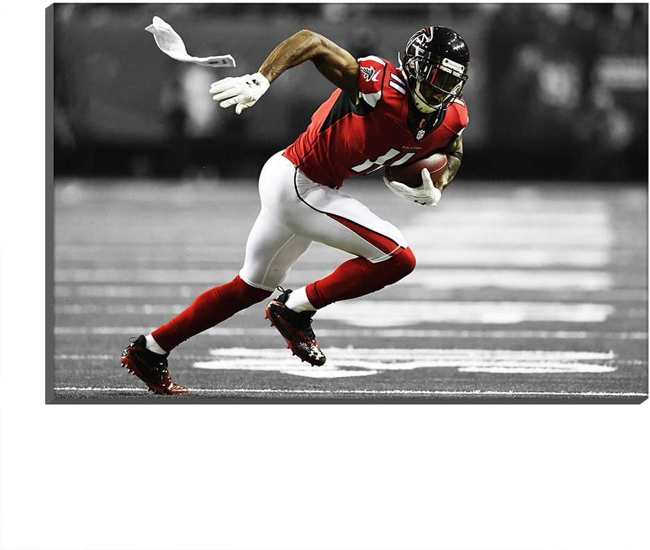 009 Mall Atlanta Falcons Julio Jones Giclee Canvas Prints Artwork Pictures Football Poster Club Fans Wall Art Painting Home Decor (No Frame- Canvas roll,30x50cm)