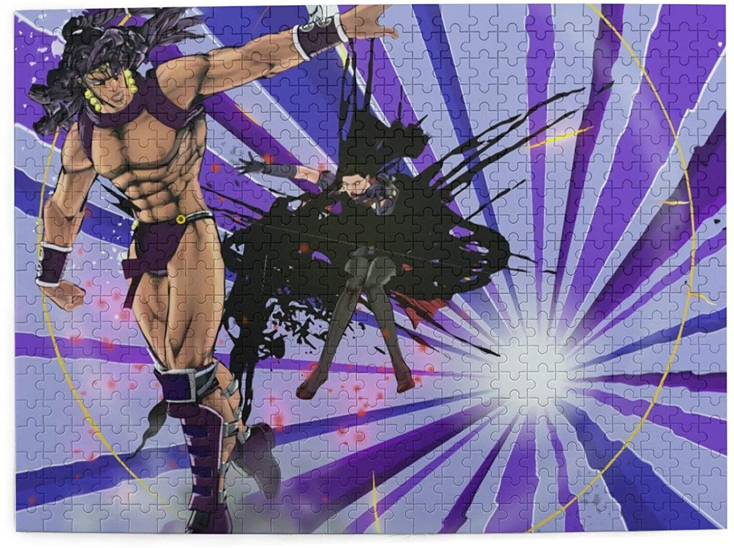 Vsldfjc Anime JoJo's Bizarre Adventure Buffalo Games - 500 Piece Large Jigsaw Puzzle, Challenging Puzzle Game, Wooden Puzzles for Adults and Teens 20.4 x 15 Inches