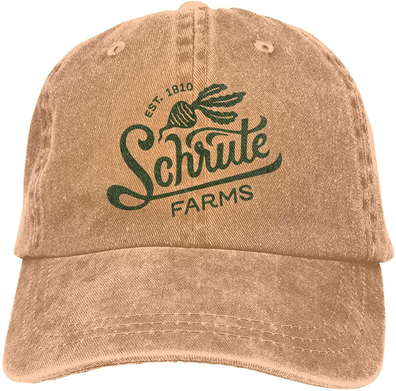 Schrute Farms Logo Unisex Flex-fit Hat Hip Hop Baseball Cap Sun Hat Outdoor Cap Gray