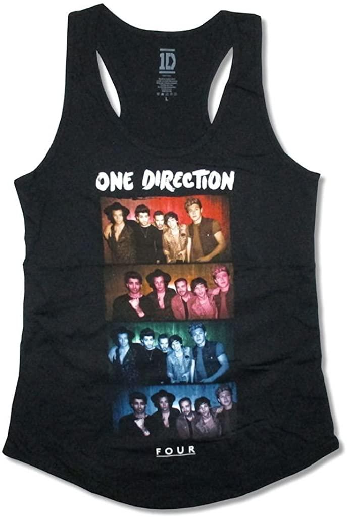 One Direction 4 Photo Image Girls Juniors Tank Top Shirt