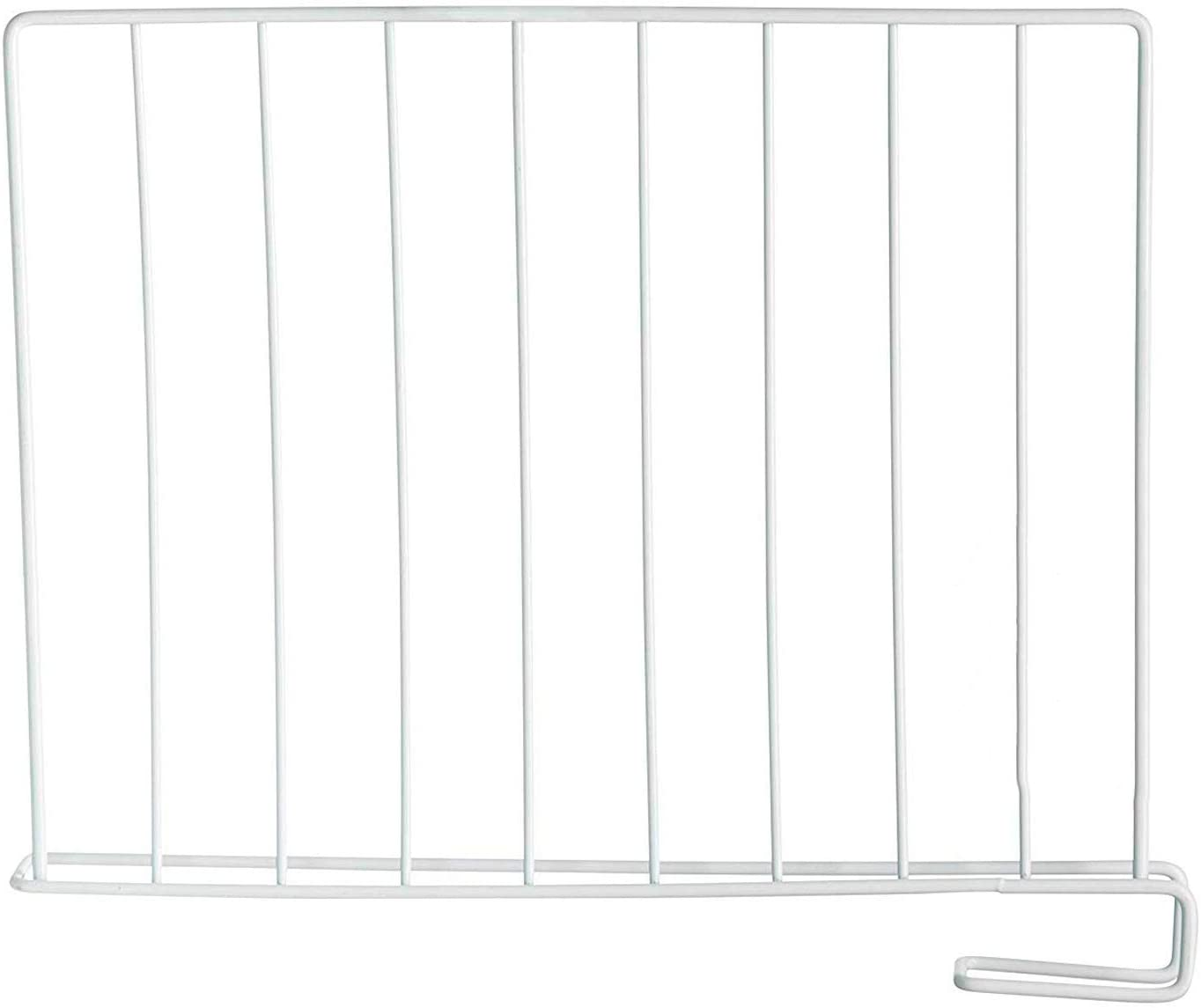 StorageMaid Wood Shelf Divider for Closets, Purses, Wood Shelves, Book Shelves and Libraries - Multi-Functional Organizers for Home and Office - Set of 8
