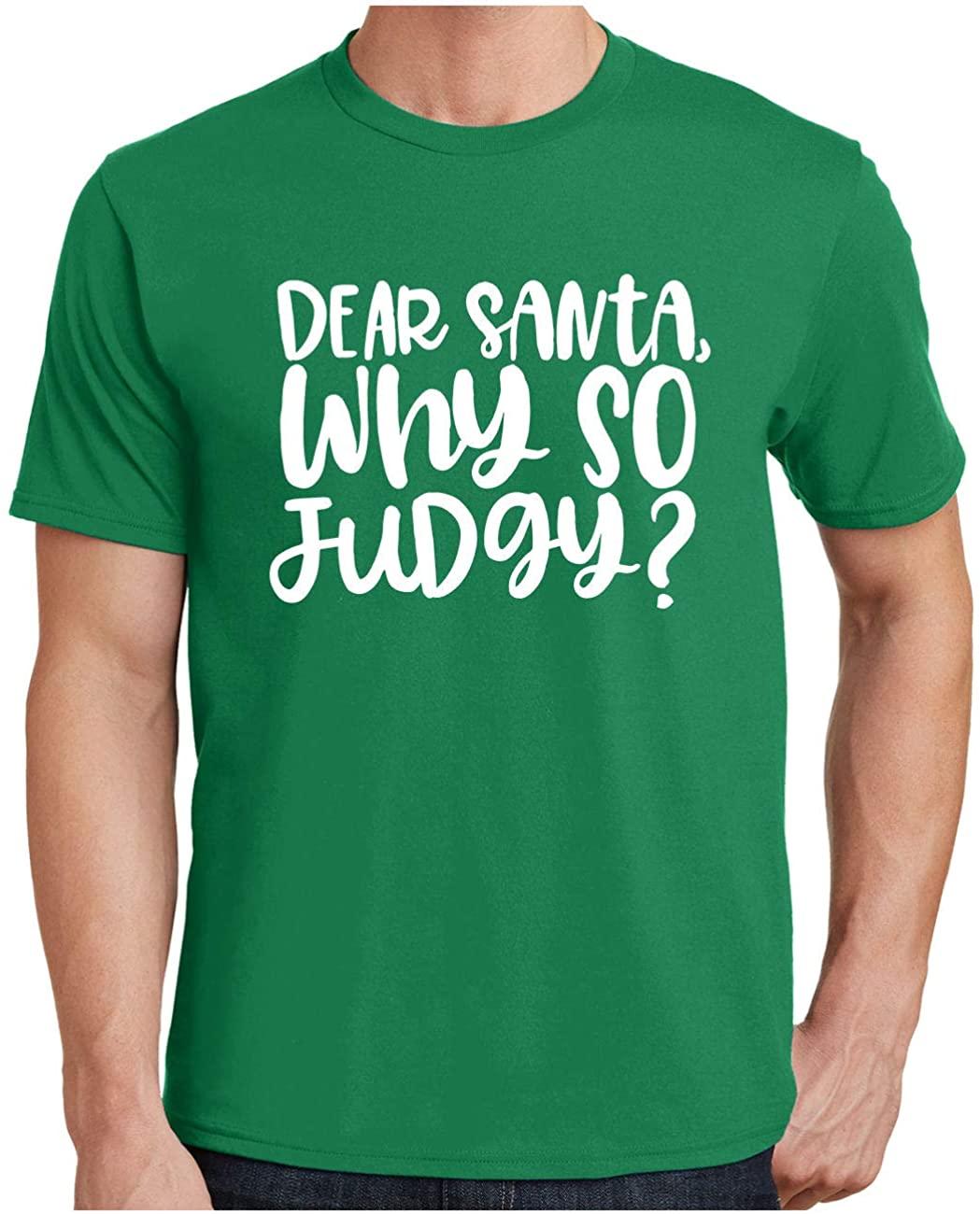 HARD EDGE DESIGN Men's Dear Santa Why So Judgy T-Shirt