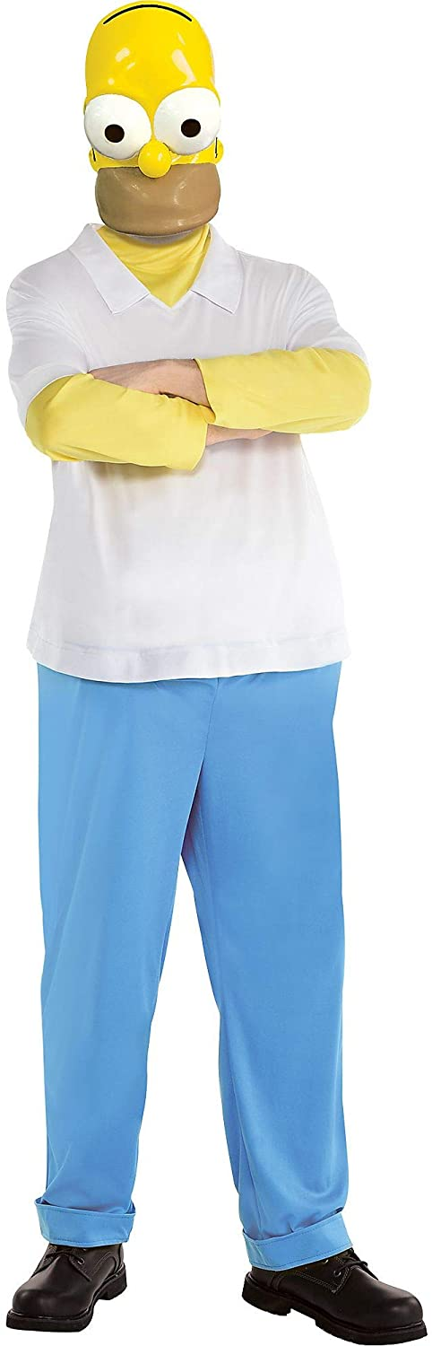Party City The Simpsons Homer Halloween Costume for Men, Includes Jumpsuit and Mask