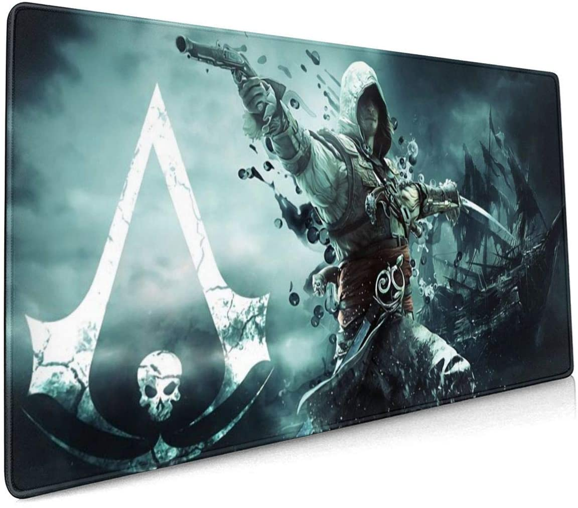 Assassin's Creed Custom Fashion Premium Non-Slip Mouse Pad Suitable for All Gaming Types of Mouse 15.8X35.5 Inch
