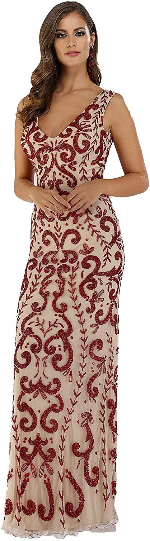 DRESS EARTH - Lara 29536 - Rhinestones Embellished Long Dress