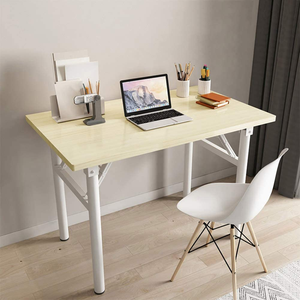 WAYERTY Foldable Desk Dinner Table,Portable Folding Desk Multi Purpose Desk Home Office Furniture Decor Workstation Working Table A 100x60x75cm(39x24x30inch)