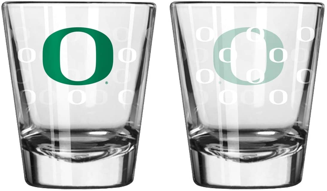 Oregon Ducks Shot Glass - 2 Pack Satin Etch