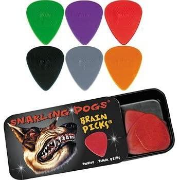 Snarling Dogs Brain Guitar Picks and Tin Box 1 Dozen 1.14 mm