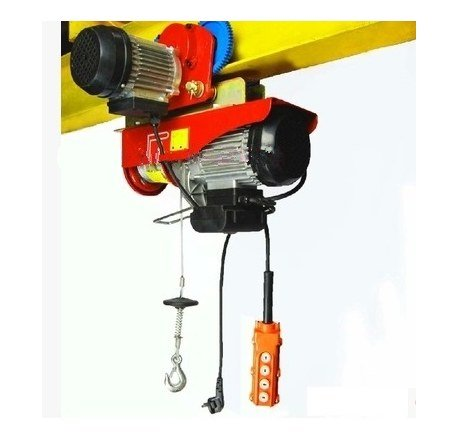 GOWE 400kg/800KG 12M, 220V 50HZ 1-Phase, All-in-one Mini Electric Wire Rope Hoist with Trolley PA Mini Block, Crane, Lifting Sling