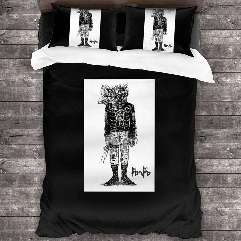 GAMSJIM Dorohedoro Three Piece Bedding 100% Soft Microfiber Bed Suit Bedroom Decoration Three Piece Set