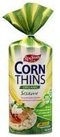 Real Foods Organic Corn Thins, Sesame Flavor, Gluten Free Wheat Free, 5.3-Ounce Bag (Pack of 12)